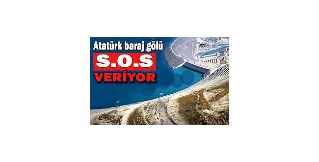 Kuraklık Atatürk Barajını da etkiledi
