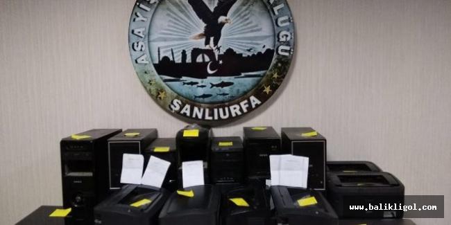 Şanlıurfa'da kaçak bahis oynatanlara operasyon