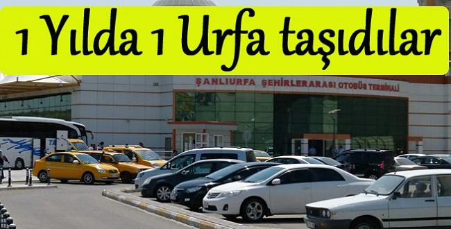 2017'de Urfa nüfusu kadar Urfa otogarında yolcu taşındı