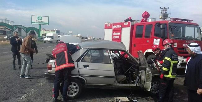 Akçakale'de trafik kazası: 5 yaralı