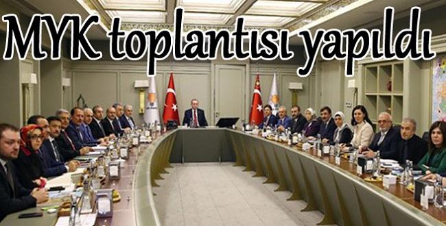 Cumhurbaşkanı Erdoğan Başkanlığında AK Parti MYK Toplandı