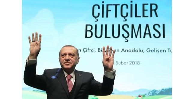 Erdoğan: Bağımsız tarım, özgürlük kadar önemlidir