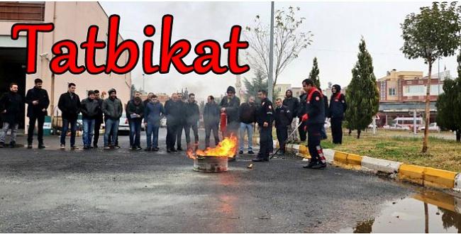 Şanlıurfa'da yangın tatbikatı