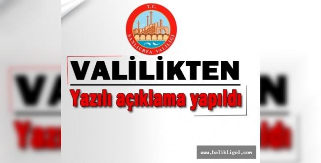 Urfa Valiliği Açıkladı: 30 gün süreyle yasaklandı