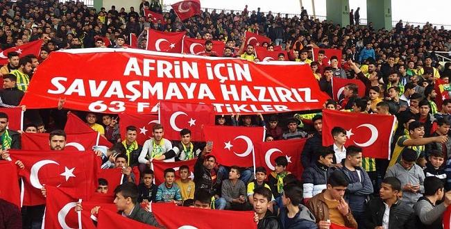 Urfaspor Taraftarından Anlamlı Afrin Pankartı