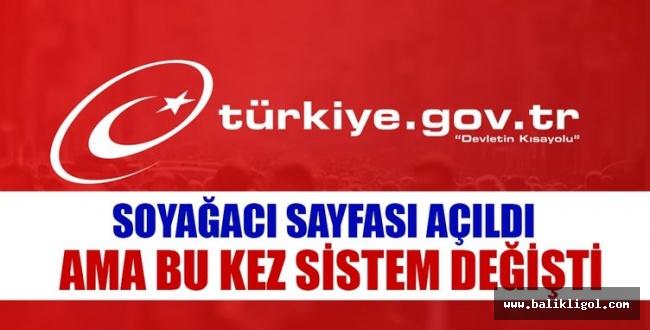Yeniden açıldı! e-Devlet Soy bilgisi sorgulama...