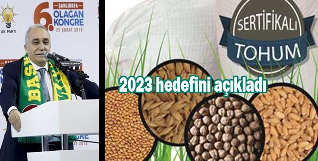 Bakanı Fakıbaba'dan flaş sertifikalı tohum açıklaması