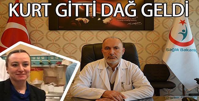 Mehmet Akif İnan Hastanesi başhekimliğinde Kurt gitti Dağ geldi