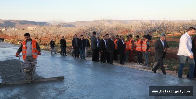 Urfa Asfalt yerine daha Uzun ömürlü olan beton yol çalışmaları yapılıyor