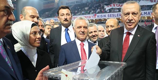 AK Parti 6. Olağan Büyük Kongresinde Erdoğan yeniden Başkan oldu