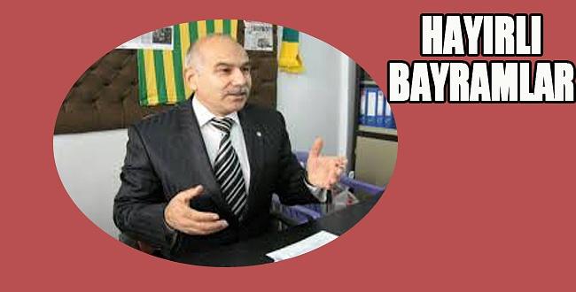 Başkan Mehmet Altun'dan bayram mesajı