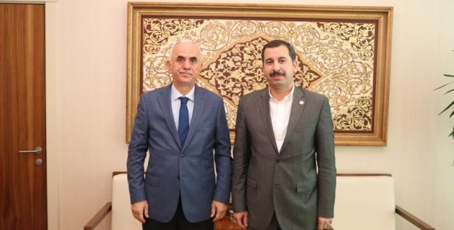 Karaköprü Belediye Başkanı Baydilli'den Erol Kaya'ya ziyaret