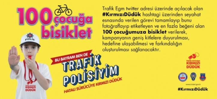 Minik trafik polislerine bisiklet verilecek