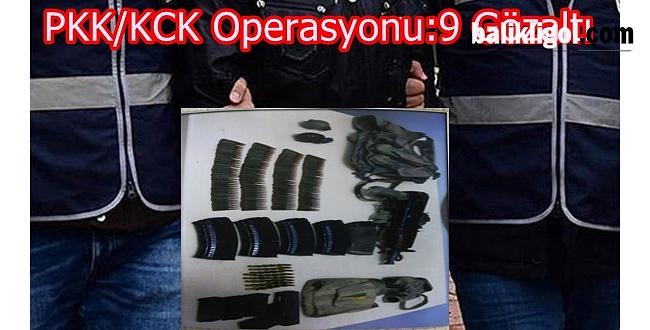 Ceylanpınar'da PKK/KCK Operasyonu: 9 Gözaltı