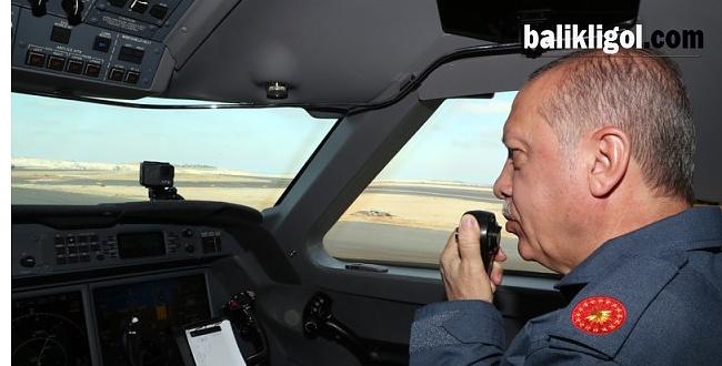 Cumhurbaşkanı Erdoğan, Teknofest alanına böyle indi
