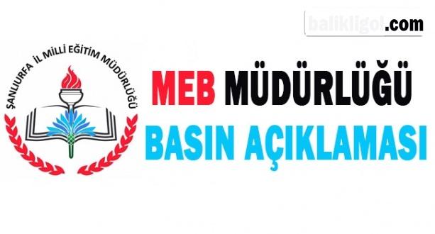 Şanlıurfa Milli Eğitim Müdürlüğü Açıkladı: Yasal İşlem Başlatırız