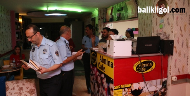 Urfa'da Zabıta Eğlence Mekanlarını Denetledi