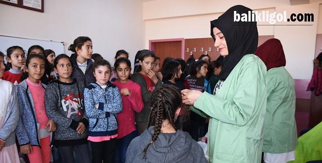 Hilvanlı öğrencilere saç bakım hizmeti