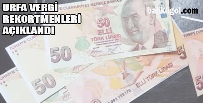 İşte Urfa'nın vergi rekortmenleri