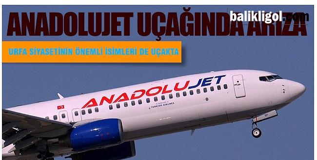 Urfa-Ankara Seferi Yapan Uçak Arıza Yaptı