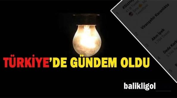 Viranşehir Karanlıkta Kalınca Türkiye'de Gündem Oldu