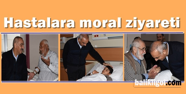 Başkan Aslan Ali Bayık'tan hastalara moral ziyareti