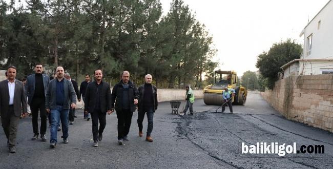 Büyük Hancığaz'da asfaltlama yapılıyor