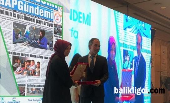 GAP Gündemi Gazetesine Yılın Yerel Gazetesi Ödülü