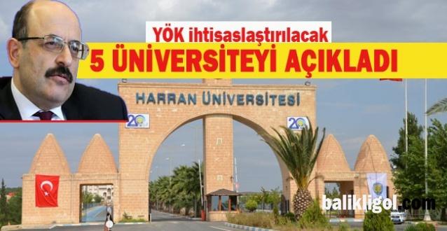 Harran Üniversitesi Hangi Alanda İhtisaslaşacak? YÖK 5 yeni üniversiteyi açıkladı