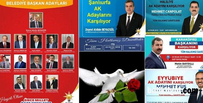 Şanlıurfa AK Parti Belediye Başkan adaylarını karşılamaya hazırlanıyor