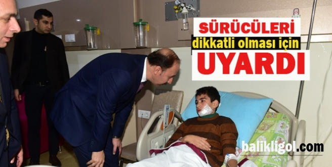Vali Erin, Suruç'taki yaralıları hastanede ziyaret etti