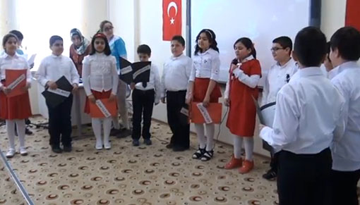 Türkmen Kolejinde 18 Mart İçin Tören