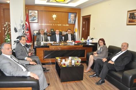 AK Parti, Şanlıurfalılar Derneği yönetimini kabul etti
