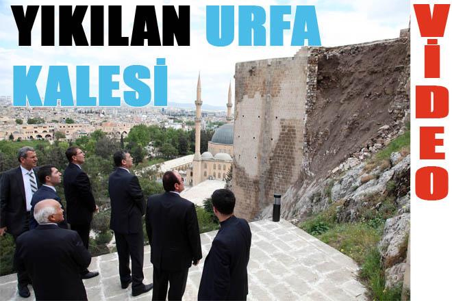 Yıkılan Urfa kalesi onarılacak VİDEO
