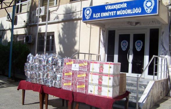 Viranşehir'de 281 KG Kaçak Çay Ele Geçirildi
