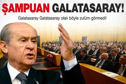 Devlet Bahçeli, Şampiyon Galatasaray yerine Şampuan deyince