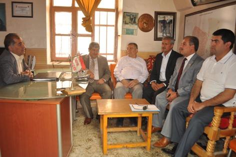 AK Partiden Kendirci ve Kurtuluş muhtarlarına ziyaret