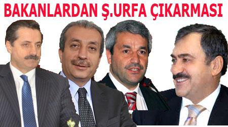 Bakan Çelik, Ergün, Eker ve Eroğlu'dan Şanlıurfa çıkarması