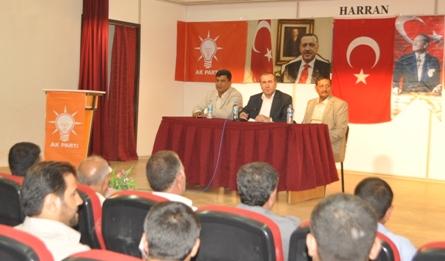 AK Parti İlçe Başkanları çalışmaları Harran'da ele aldılar