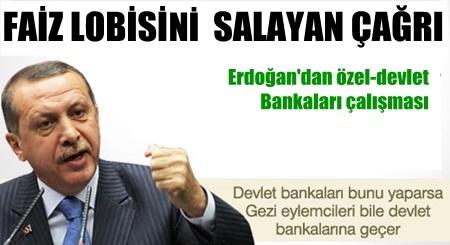Erdoğan'dan özel bankalarla çalışmayın uyarısı