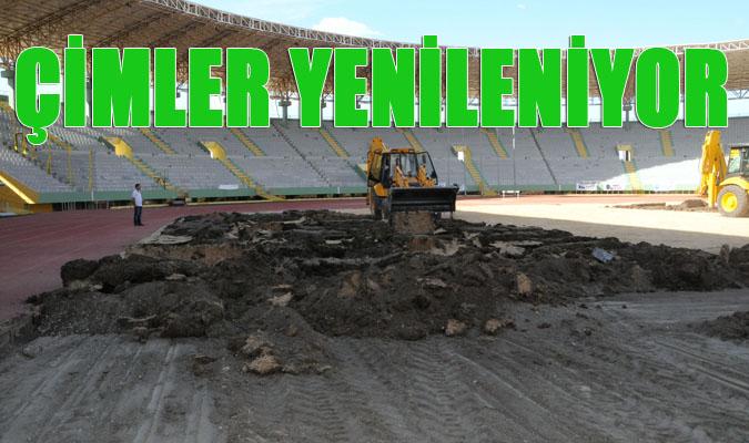 Şanlıurfa GAP Arenadaki Çimler Yenileniyor-VİDEO