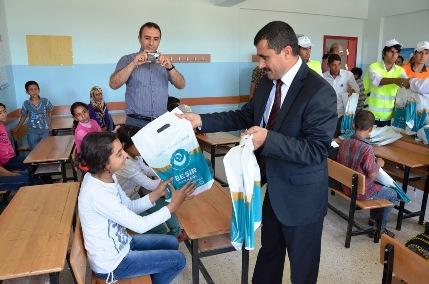 Beşir Derneğinden Kubacık İlköğretim Okulu öğrencilerine yardım