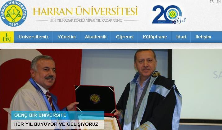 Harran Üniversitesi 20. yılında wep sayfasını yeniledi