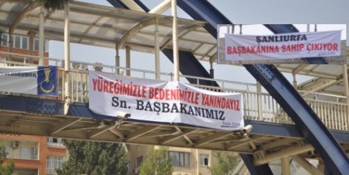 Erdoğan'a Şanlıurfa'dan Pankartlı destek VİDEO