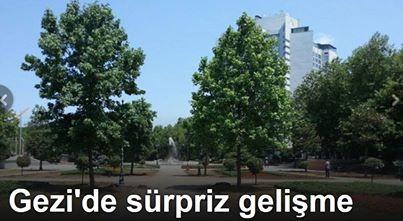 Taksim Gezi Parkı'na yeşil takviyesi