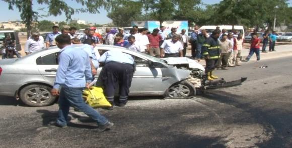Şanlıurfa'da feci kaza; 1 ölü 3 yaralı VİDEO