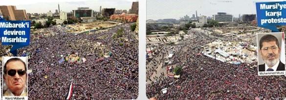 Tahrir'deki gösteriler arasındaki 7 fark
