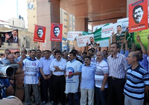 Şanlıurfa'dan Mısır'daki darbeye protesto
