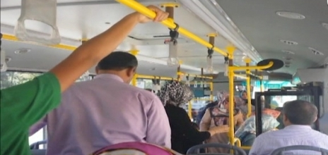 Şehir içi otobüsü değil, hamam adeta VİDEO