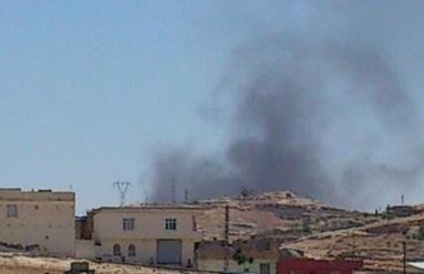 Anız yangını Urfa'dan görülüyor